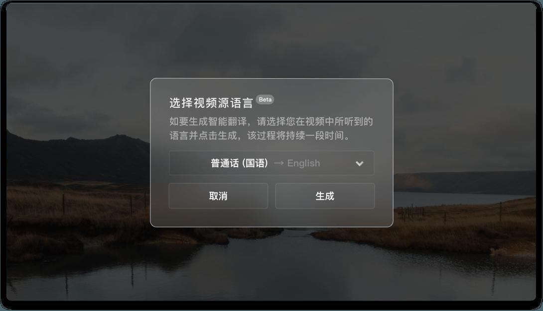 视频语言识别和字幕翻译